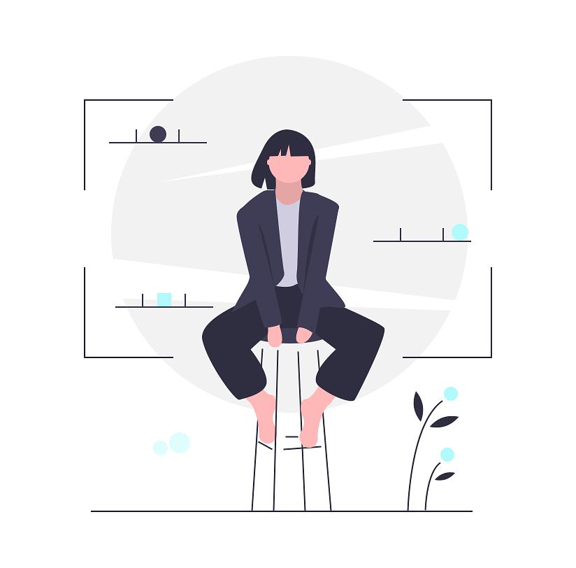 sitting-woman