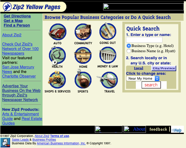 This is What Elon Musk's First Website (Zip2) Looked Like